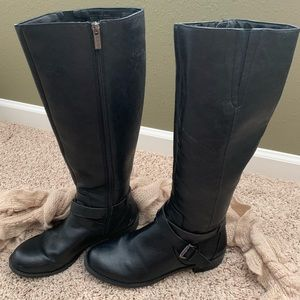 Kenneth Cole Leather Riding Boots Size 7